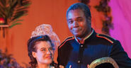 Darryl Maximilian Robinson as Major-General Stanley and Jennifer Sperry as Mabel stanley in The Pirates of Penzance 7