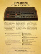 Linn LM-1 Drum Computer Rev 1 Brochure Page 1