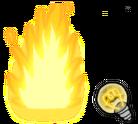 Lightbulb and fire