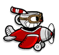 Cuphead in plane