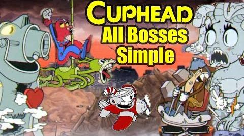 Cuphead All Bosses On Simple Difficulty (Boss Phases Easier And Fewer)