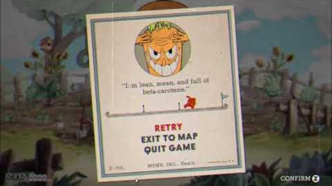 "Cuphead - ""Botanic Panic!"" Game Over Screen Version"