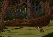 Full shipwreck forest