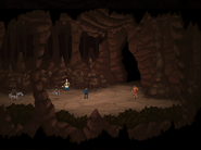 Full cave tunnel