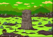 Full stone statue swamp