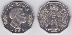 Tanzania 5 shillings 1993.jpg
