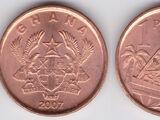 Ghanaian 1 pesewa coin
