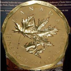 Canadian 1,000,000 dollar coin