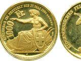 Swiss 1000 franc coin