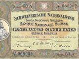 Swiss 5 franc banknote