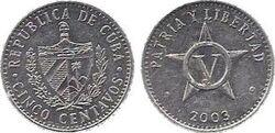 Cuba 5 centavos coin 2003.jpg