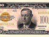 United States 100,000 dollar banknote