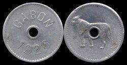Gabon non-denominated leopard coin.jpg
