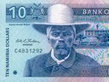 Namibian 10 dollar banknote