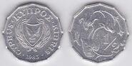 Cyprus half cent 1983