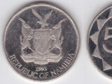 Namibian 5 cent coin