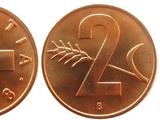 Swiss 2 rappen coin
