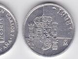 Spanish 1 peseta coin