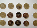British 50 pence coin/Commemorative coins