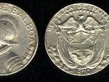 Panamanian 1/10 balboa coin