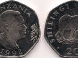 Tanzanian 20 shilling coin