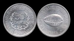 Guinea 50 cauris 1971.jpg