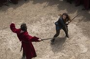 Nimue fighting a paladin 1x08