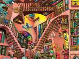 Fantasy scene based on Escher's Relativity