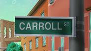 S12E04 Carroll Street Sign close up