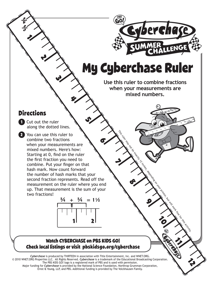 My Cyberchase Ruler