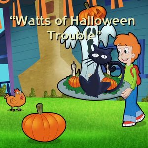 Watts of Halloween Trouble Title Card.png