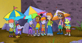 Jackie, Inez, Matt, and Dige with the Gollywood Kids (Parks and Recreation)2