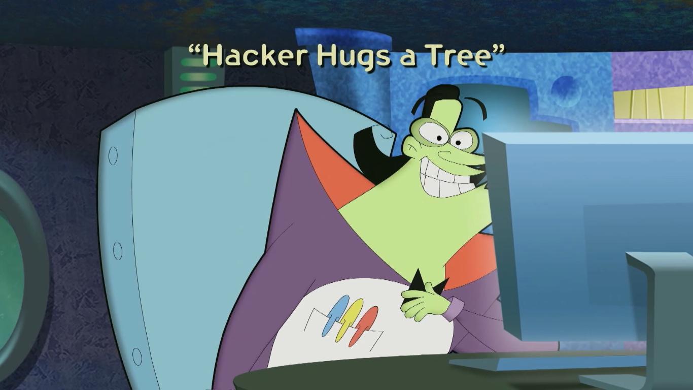 Hacker Hugs a Tree