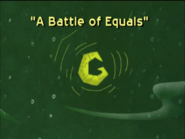 A Battle of Equals Title Card
