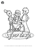 Cyberchase Coloring-Sheet-CyberSquad