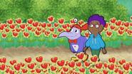 S12E04 Digit and Ren near Cyberheart flowers