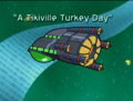 A Tikiville Turkey Day Title Card