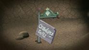 S12E07 Crawling Falls broken sign