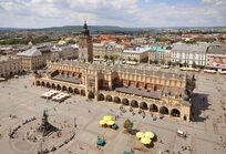 Sukiennice and Main Market Square Krakow Poland