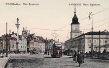 Warszawa pl Zamkowy ca1910