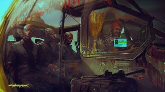 Cyberpunk 2077 all ready to go (concept art)