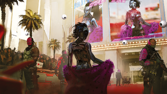 Cyberpunk 2077 on the red carpet (concept art)