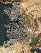 Night City Satellite Map 2077