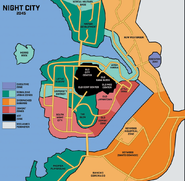 CPRED Night City Area 2045 Map