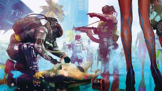 Cyberpunk 2077 trauma team in action (concept art)
