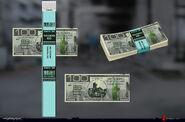 Cyberpunk 2077 100E$ Bill renders