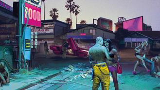 Cyberpunk 2077 street life (concept art)