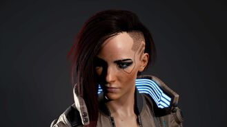 V model 3D w wersji żeńskiej (Cyberpunk 2077)