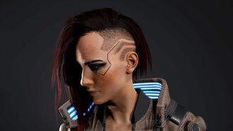 V model 3D w wersji żeńskiej 3 (Cyberpunk 2077)