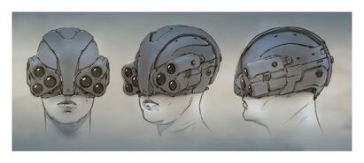 Cyberpunk 2077 MAXTACHelmet (concept art)